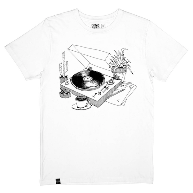 T-SHirt COFFEE VINYL weiss