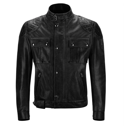 Leatherjacket BROOKLANDS antique black