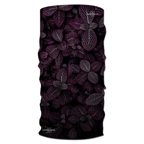 Neck warmer LEAF purple/black