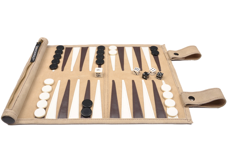 Travelgame BACKGAMMON beige