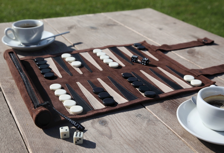 Travelgame BACKGAMMON brown