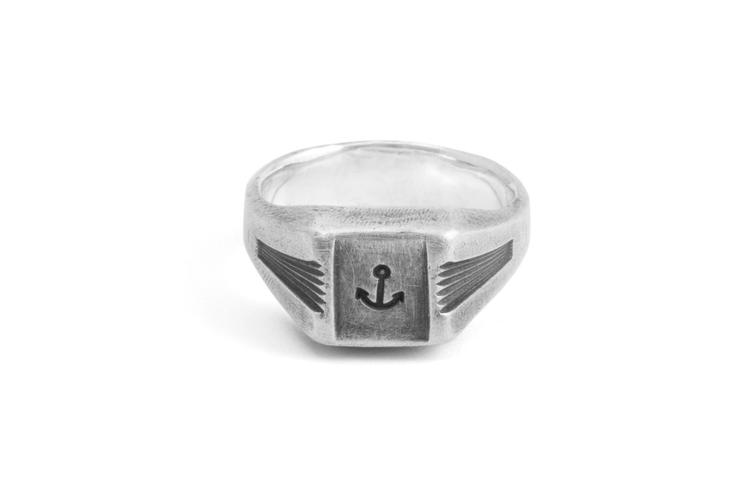 Signet Ring ANCHOR silber