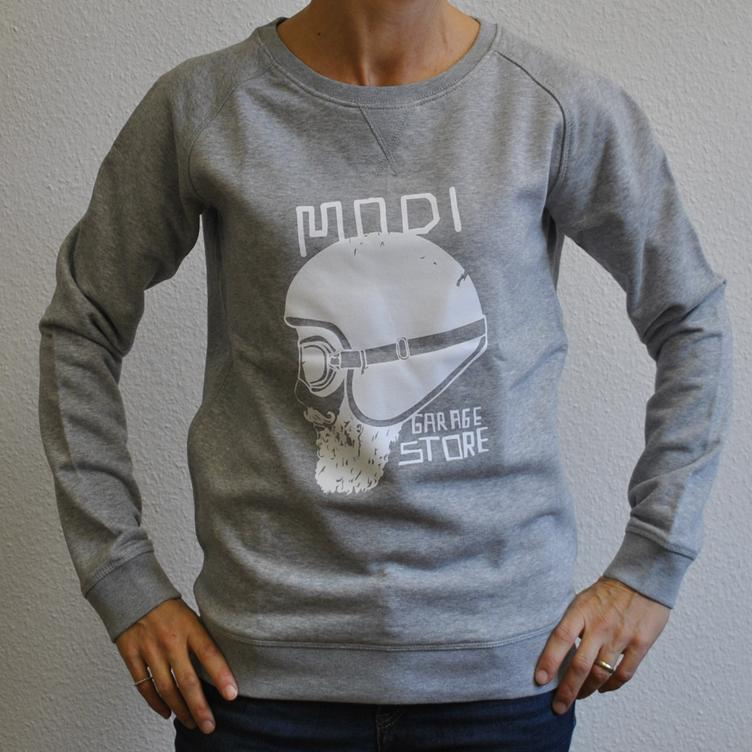 Sweater BIKER light grey