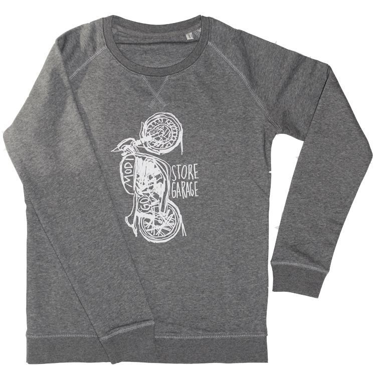 Sweater MODI MOTO heather grey