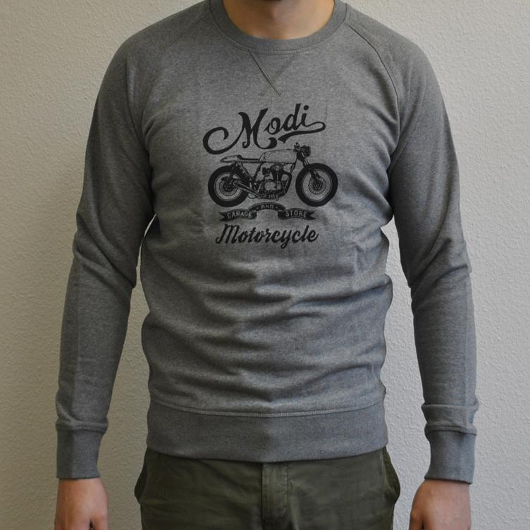 Sweater MOTORCYCLE grau